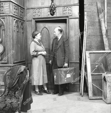 Violet Carson (as Ena Sharples) and Frank Atkinson (as Sam Leach)