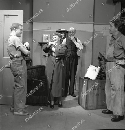 Graham Haberfield (as Jerry Booth), Margot Bryant (as Minnie Caldwell), Frank Atkinson (as Sam Leach) and Peter Adamson (as Len Fairclough)