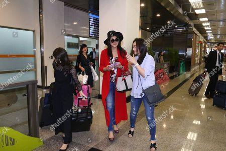 Editorial image of Norika Fujiwara at Taiwan Taoyuan International Airport, Taipei - 29 Mar 2018