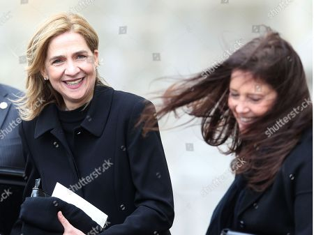 Stock Picture of Princess Cristina of Spain and Princess Irene of Greece