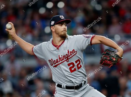 AJ Cole. Washington Nationals starting pitcher A.J. Cole works in the first inning of the team's baseball game against the Atlanta Braves, in Atlanta