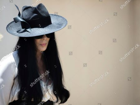 Stock Picture of Cher arrives for the funeral of Gregg Allman, in Macon, Ga. Family, friends and fans will say goodbye on Saturday to music legend Allman, who died over the Memorial Day weekend at the age of 69