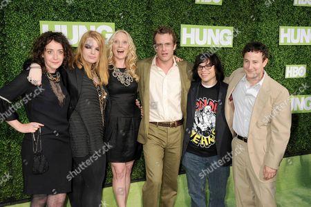 Hung Cast L-R: Jane Adams, Sianoa Smit-McPhee, Thomas Jane, Anne Heche, Charlie Saxton, Eddie Jemison