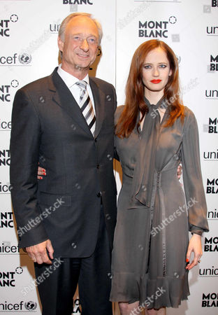 Lutz Bethge (Montblanc CEO) and Eva Green