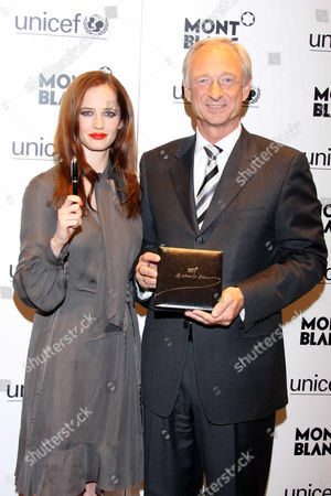 Stock Picture of Eva Green and Lutz Bethge (Montblanc CEO)