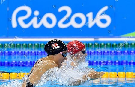 Denmark's Rikke Moller Pedersen competes in a women's 200-meter breaststroke heat during the swimming competitions at the 2016 Summer Olympics, in Rio de Janeiro, Brazil