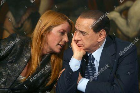 Minister of Tourism Michela Vittoria Brambilla and Prime Minister Silvio Berlsconi