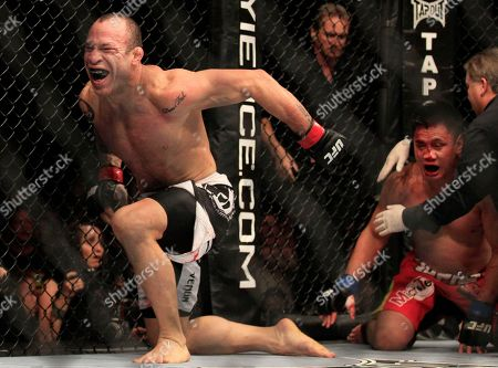 Cung Le, Wanderlei Silva. Wanderlei Silva, left, celebrates after beating Cung Le, right, during the second round of a UFC 139 Mixed Martial Arts middleweight bout in San Jose, Calif., . Silva won by TKO in the second round