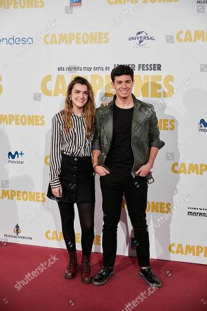 Amaia Romero and Alfred Garcia
