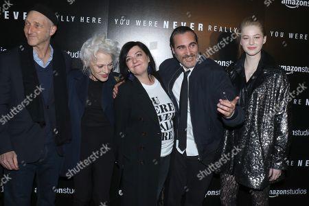 Jonathan Ames, Judith Anna Roberts, Lynne Ramsay, director, Joaquin Phoenix and Ekaterina Samsonov