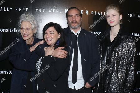 Judith Anna Roberts, Lynne Ramsay, director, Joaquin Phoenix and Ekaterina Samsonov