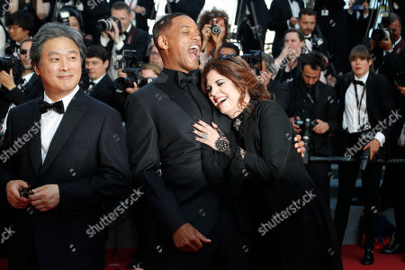 Park Chan-wook, Will Smith, Maren Ade. Jury members Park Chan-wook, from left, Will Smith and Maren Ade pose for photographers upon arrival at the award ceremony at the 70th international film festival, Cannes, southern France