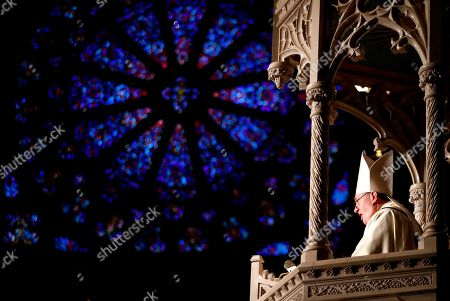 Joseph Cardinal Tobin gives the homily during a Mass ceremony installing him as the new archbishop of Newark, in Newark, N.J. Tobin succeeds Archbishop John Myers, who reached the mandatory retirement age of 75 in July