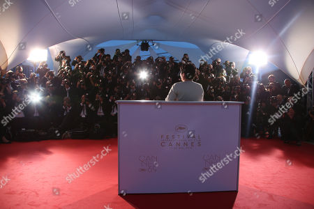 Stock Picture of Actress Jaclyn Jose pose for photographers with her Best Actress award for her role in the film Ma' Rosa during the photo call following the awards ceremony at the 69th international film festival, Cannes, southern France