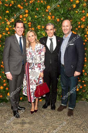 Stock Photo of Patrice Beliard, Tory Burch, Fabrice Weber, John Mehas