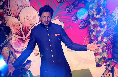 Newly launched  wax figure of Indian Bollywood actor Shahrukh Khan at the Madame Tussauds wax museum in New Delhi, India, 04 April 2018. Madame Tussauds New Delhi features 50 wax figures of personalities from the fields of sports, music, film, history and politics.