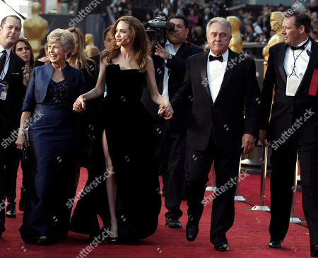 Angelina Jolie, Jane Pitt, William Pitt. Actress Angelina Jolie, center, Jane Pitt, left, and William Pitt arrive before the 84th Academy Awards, in the Hollywood section of Los Angeles