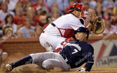 Editorial picture of Brewers Cardinals Baseball, St. Louis, USA - 9 Aug 2011