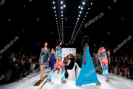 The Diane von Furstenburg Spring 2014 collection is modeled during Fashion Week, in New York