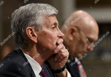 Stock Picture of John M. McHugh, Raymond Odierno. Army Secretary John M. McHugh, left, accompanied by Army Chief of Staff Gen Raymond Odierno, pauses on Capitol Hill in Washington, as they updated members of the Senate Armed Services Committee about the deadly shooting rampage by a soldier yesterday at Fort Hood in Texas. An Iraq War veteran being treated for mental illness was the gunman who opened fire at Fort Hood, killing three people and wounding 16 others before committing suicide, in an attack on the same Texas military base where more than a dozen people were slain in 2009