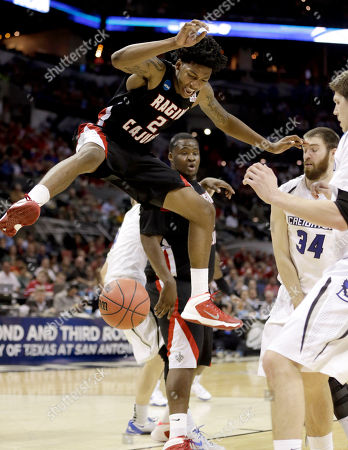 Stock Picture of Ethan Wragge, Elfrid Payton. Louisiana Lafayette's Elfrid Payton (2) has the ball stripped away by Creighton's Ethan Wragge (34) during the second half of a second-round game in the NCAA college basketball tournament, in San Antonio. Creighton won 76-66
