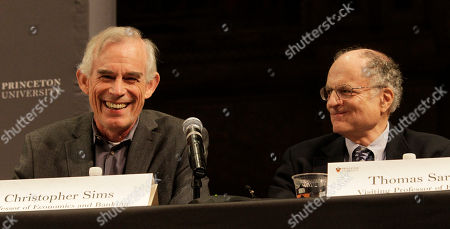 Thomas Sargent, Christopher Sims. Christopher Sims, left, and Thomas Sargent talk about winning the Nobel Prize for economics during a news conference, at Princeton University in Princeton, N.J. Their research sheds light on the cause-and-effect relationship between the economy and policy instruments such as interest rates and government spending