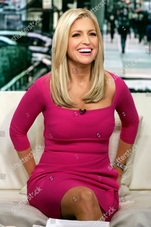 "Fox News host Ainsley Earhardt makes her debut as co-host of the network's morning show ""Fox & Friends"" television program, in New York, . Earhardt replaces Elisabeth Hasselbeck on the""curvy couch"" with Steve Doocy and Brian Kilmeade"