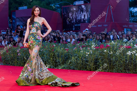 Actress Pace Wu arrives for the screening of the film Di Renjie Zhi Tongtian Diguo (Detective Dee and the Mystery of Phantom Flame) during the 67th edition of the Venice Film Festival in Venice, Italy