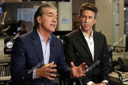 Stock Image of Joel Manby, Wayne Pacelle. SeaWorld President and CEO Joel Manby, left, and Wayne Pacelle, President and CEO of The Humane Society of the United States, are interviewed in New York, . Finally bowing to years of public pressure, SeaWorld announced Thursday that it will immediately stop breeding killer whales, and soon stop making them perform theatrical tricks