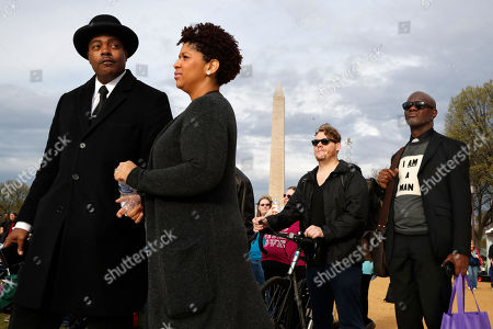 Milton Williams, Ruth LaToison Ifill, Stephen Marencic, Aaron Ward. Milton A. Williams, left, pastor of Pennsylvania Ave. AME Zion Church in Baltimore, Ruth LaToison Ifill, with AME Zion Church, Stephen Marencic, of Washington, and Aaron Ward, of Washington, attend the A.C.T. To End Racism rally, on the National Mall in Washington, on the 50th anniversary of Martin Luther King Jr.'s assassination