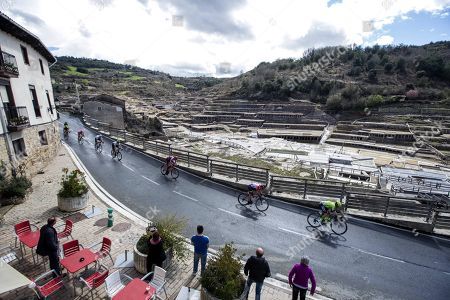 d3258d240 Stock Photo of Riders in action during the third stage of the Tour of the  Basque ...