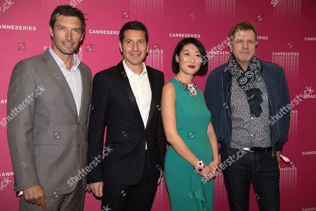 Franck Semonin, David Lisnard, Mayor of Cannes, Fleur Pellerin and Xavier Deluc