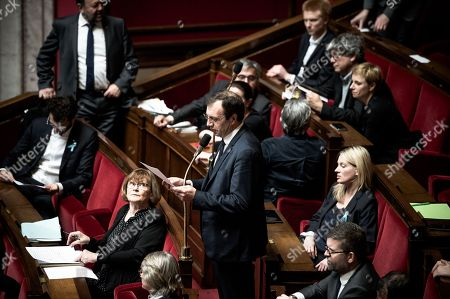 Editorial image of French National Assembly, Paris, France - 04 Apr 2018