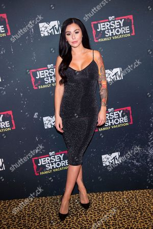 """Jennifer Lynn """"Jenni"""" Farley attends the premiere of MTV's """"Jersey Shore Family Vacation"""" at PH-D Lounge at Dream Downtown, in New York"""