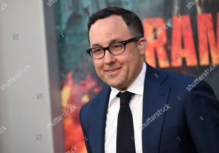 "P. J. Byrne arrives at the world premiere of ""Rampage"" at the Microsoft Theater, in Los Angeles"