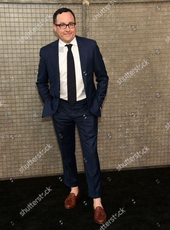 "Stock Photo of P. J. Byrne arrives at the world premiere of ""Rampage"" at the Microsoft Theater, in Los Angeles"