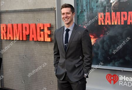 """Adam Sztykiel arrives at the world premiere of """"Rampage"""" at the Microsoft Theater, in Los Angeles"""