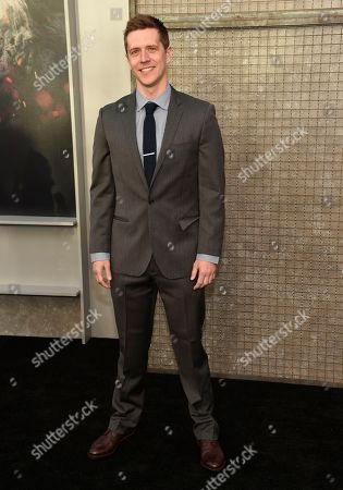 """Stock Picture of Adam Sztykiel arrives at the world premiere of """"Rampage"""" at the Microsoft Theater, in Los Angeles"""