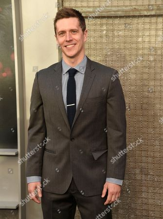 """Stock Image of Adam Sztykiel arrives at the world premiere of """"Rampage"""" at the Microsoft Theater, in Los Angeles"""