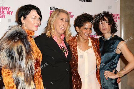 Stock Photo of Elizabeth Peyton, Cecily Brown, Lisa Phillips, Julie Mehretu
