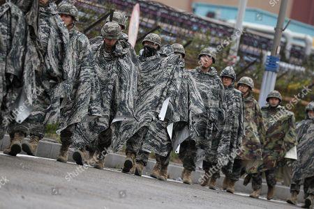 South Korea US military training exercises Pohang Stock