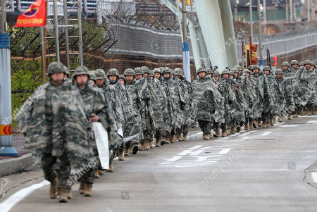 South Korea US military training exercises Pohang Stock