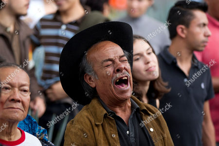 A man sings during a homage to famed Mexican singer Chavela Vargas at the traditional Mariachi Garibaldi Plaza in Mexico City,. Chavela Vargas, who defied gender stereotypes to become one of the most legendary singers in Mexico, died Aug. 5 at age 93