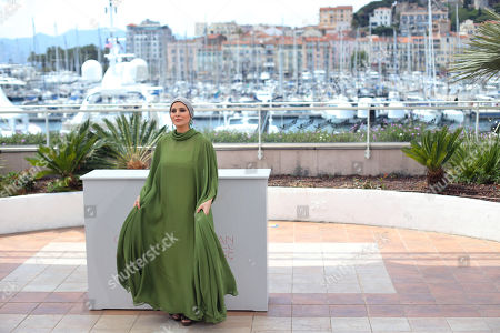 Stock Image of Actress Sahar Dolatshahi poses for photographers during a photo call for the film Inversion at the 69th international film festival, Cannes, southern France
