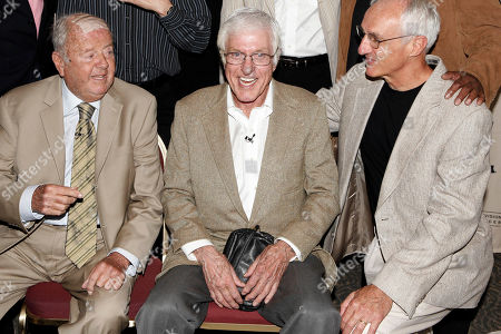 """Dick Van Patten, Dick Van Dyke, Michael Gross. Actors Dick Van Patten, left, Dick Van Dyke, center, and Michael Gross pose during the Academy of Television Arts and Sciences' """"A Father's Day Salute to TV Dads"""" in the North Hollywood section of Los Angeles on . They played fathers on the """"Eight is Enough,"""" """"Dick Van Dyke Show"""" and """"Family Ties,"""" television comedy series"""