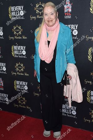 Stock Photo of Sally Kirkland attends the Opening Night of the 2018 Beverly Hills Film Festival at the TCL Chinese 6 Theatres, in Los Angeles