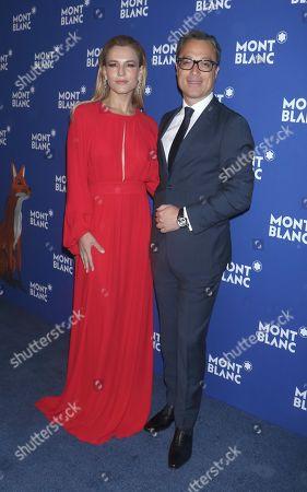 Ana Rita Clara and Nicolas Baretzki, Global CEO of Montblanc
