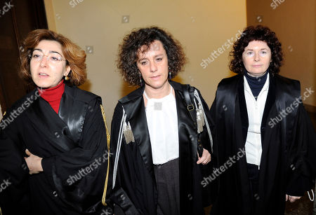 Stock Picture of Judges Carmen D'Elia, Giulia Turri, and Orsolina De Cristofaro, from left, are pictured at Milan's Justice palace, Italy, . Italian Premier Silvio Berlusconi was indicted Tuesday on charges he paid for sex with a 17-year-old Moroccan girl and then used his influence to cover it up. The prostitution trial starts April 6 before a court of three female judges, D'Elia, Turri and De Cristofaro, an ironic twist for the premier in the face of big protests by Italian women who contend the scandal and Berlusconi's view of women is degrading to female dignity