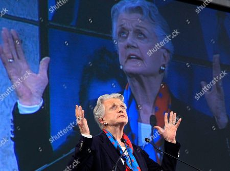 Actress Angela Lansbury gestures as she is honored at the Ellis Island Family Heritage Awards on Ellis Island on . Along with Lansbury, baseball player and manager Tony La Russa and architect Richard Meier are this year's honorees for contributions they have made to a nation of immigrants. The Statue of Liberty-Ellis Island Foundation's database of ship's passenger records documents the arrival of more than 17 million immigrants, travelers and crew members who came through Ellis Island and the Port of New York between 1892-1942