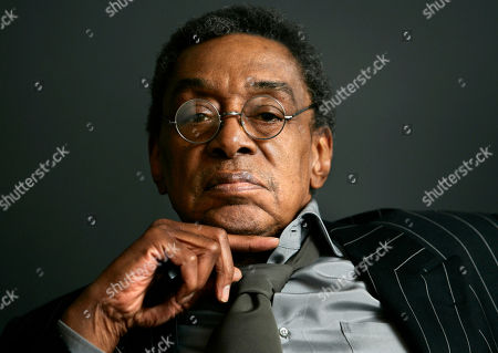 """Don Cornelius at his office in Los Angeles. Cornelius, creator of the long-running TV dance show """"Soul Train,"""" shot himself to death Wednesday morning, Feb. 1, 2012 at his home in Los Angeles, police said. He was 75"""